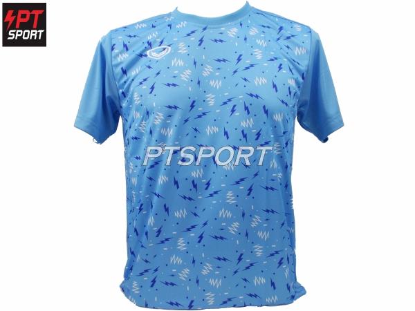 เสื้อกีฬา GRAND SPORT พิมลาย รุ่น 011-477 สีฟ้า