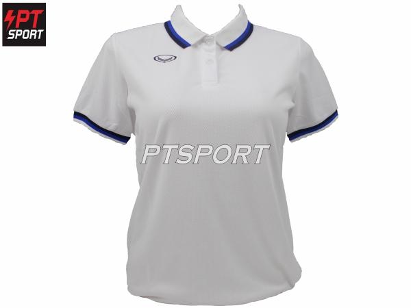 เสื้อคอปกโปโลหญิง GRAND SPORT 012-788 สีขาว