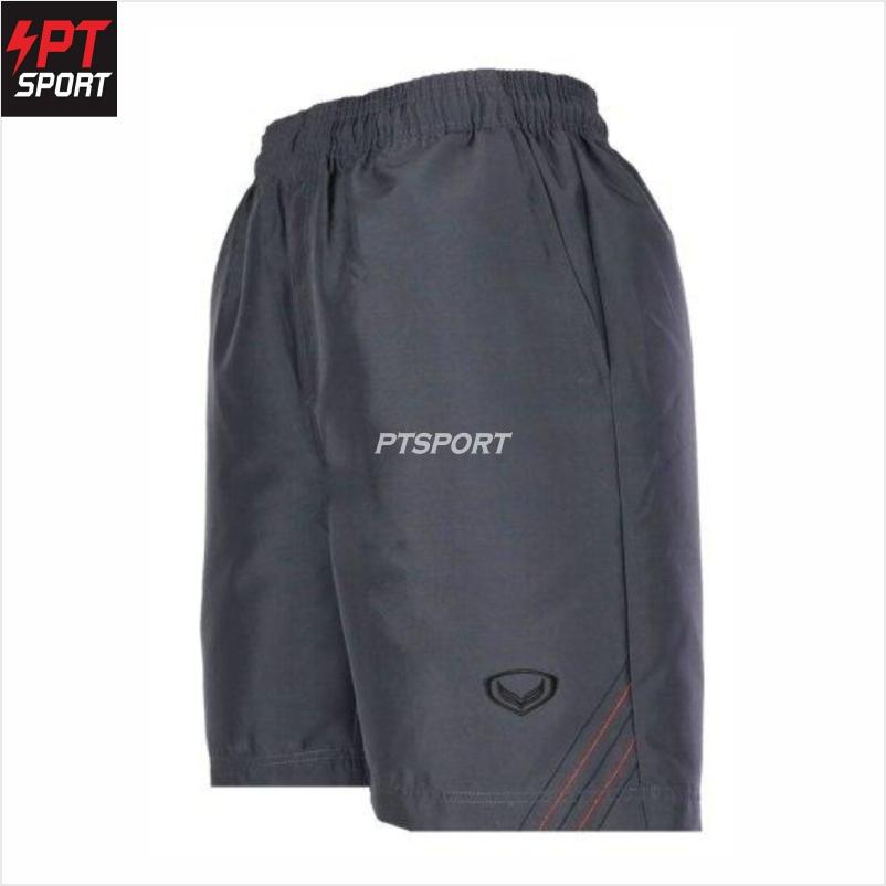 กางเกงผ้าร่มขาสั้น Grand sport รหัส 002-218 กางเกงขาสั้น กางเกงผ้าร่ม กางเกงกีฬาผ้าร่ม สีเทา