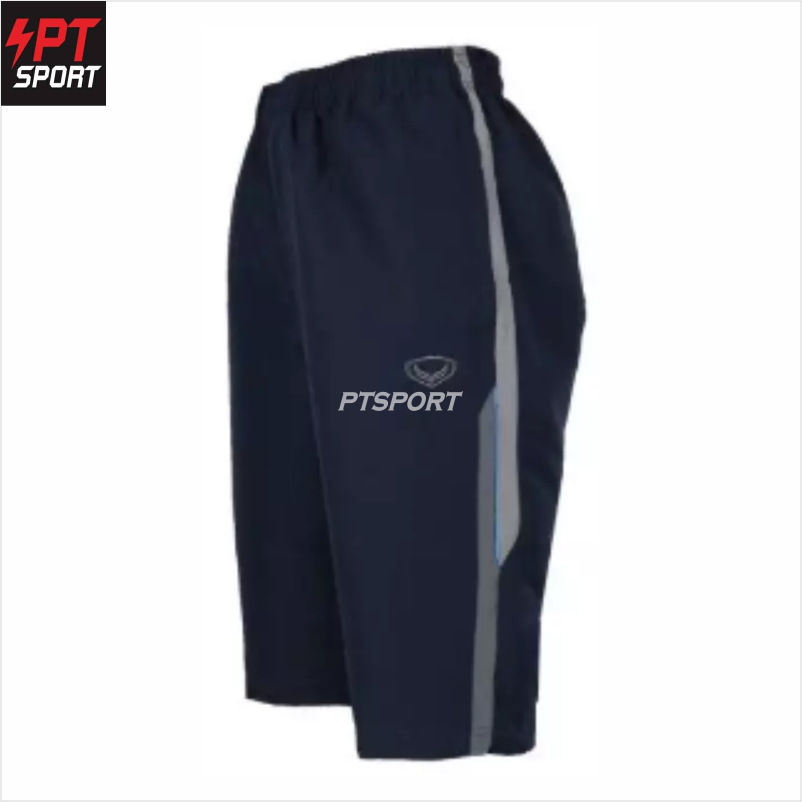 Grand sport 002-765 กางเกงลำลองผ้าร่มขา 3 ส่วน สีกรม