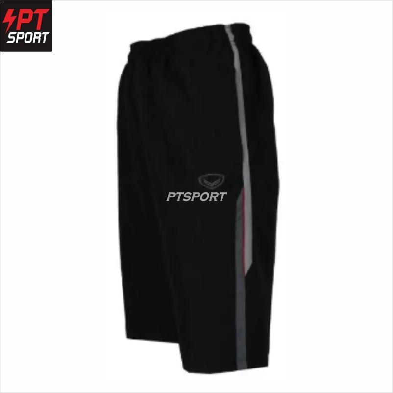 Grand sport 002-765 กางเกงลำลองผ้าร่มขา 3 ส่วน สีดำ