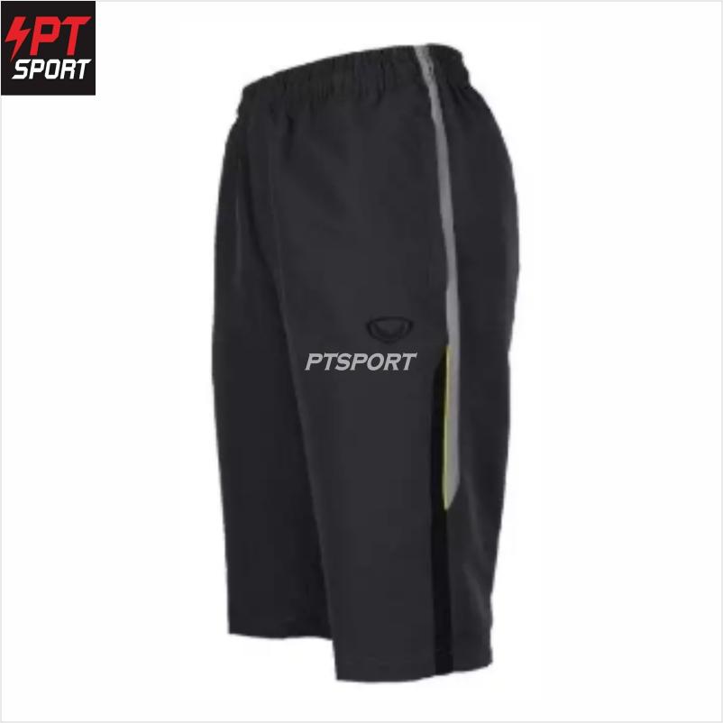 Grand sport 002-765 กางเกงลำลองผ้าร่มขา 3 ส่วน สีเทา
