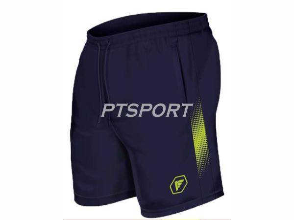 กางเกงกีฬา กางเกงผ้าร่มขาสั้นสกรีนลาย PEGAN 26-19021 สีกรมเขียว