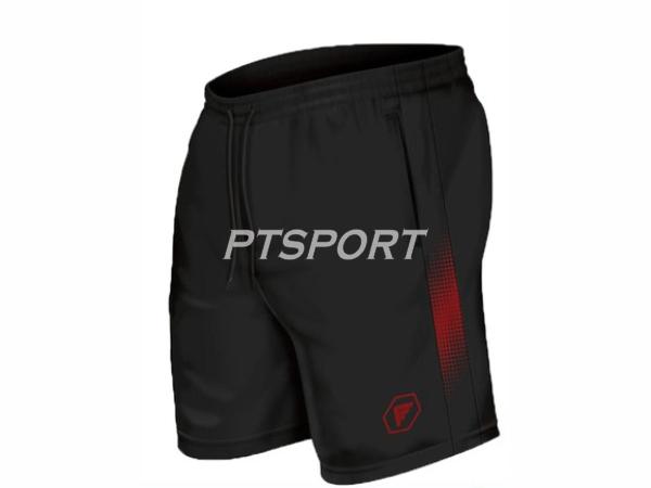 กางเกงกีฬา กางเกงผ้าร่มขาสั้นสกรีนลาย PEGAN 26-19021 สีดำแดง