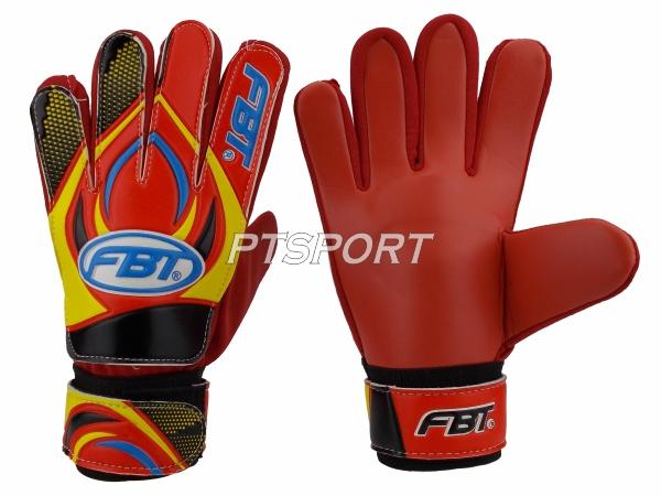 ถุงมือผู้รักษาประตู ถุงมือโกล์ว FBT GG-8 สีแดง