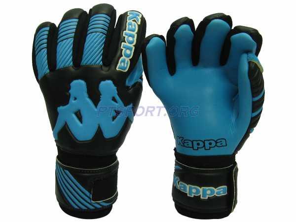 ถุงมือผู้รักษาประตู ถุงมือโกล์ว KAPPA GV-1507 มี Finger Save ดำฟ้า