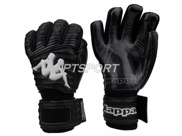 ถุงมือผู้รักษาประตู ถุงมือโกลว์ KAPPA GV-1510 มี FINGER SAVE สีดำ