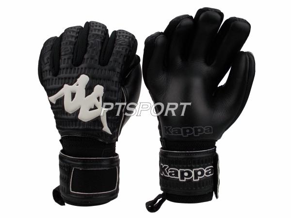 ถุงมือผู้รักษาประตู ถุงมือโกลว์ KAPPA GV-1511 มีFINGER SAVE สีดำ