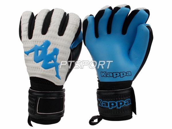 ถุงมือผู้รักษาประตู ถุงมือโกลว์ KAPPA GV-1511 มีFINGER SAVE สีขาวฟ้า