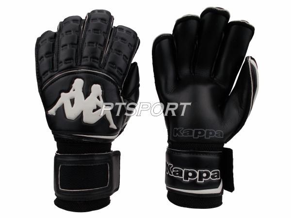 ถุงมือผู้รักษาประตู ถุงมือโกลว์ KAPPA GV-1512 มี FINGER SAVE สีดำ
