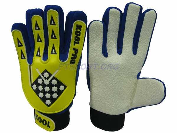 ถุงมือผู้รักษาประตู ถุงมือโกล์ว (ไม่มี Finger Save) KOOL เหลือง