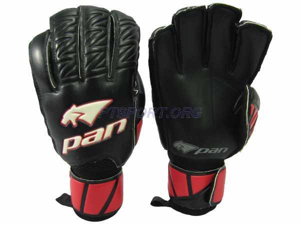 ถุงมือผู้รักษาประตู ถุงมือโกล์ว PAN PV-1532 มี Finger Save แดงดำ