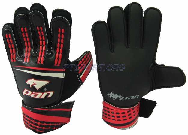 ถุงมือผู้รักษาประตู ถุงมือโกล์ว PAN PV-1534 ไม่มี Finger Save แดงดำ