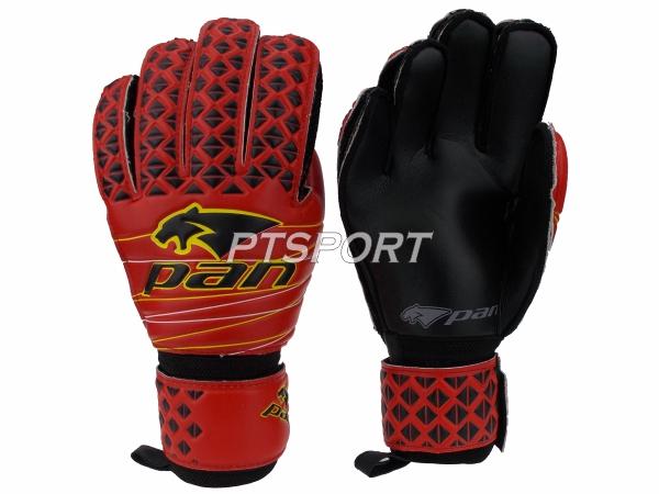 ถุงมือผู้รักษาประตู ถุงมือโกลว์ PAN PV-1538 มีFINGER SAVE แดงดำ