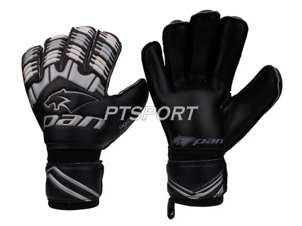 ถุงมือผู้รักษาประตู ถุงมือโกลว์ PAN PV-1542 มี FINGER SAVE สีดำ