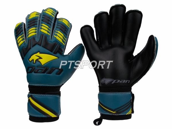ถุงมือผู้รักษาประตู ถุงมือโกลว์ PAN PV-1542 มี FINGER SAVE สีเขียวเหลือง
