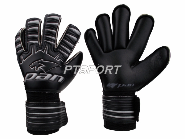 ถุงมือผู้รักษาประตู ถุงมือโกลว์ PAN PV-1543 นิ้วกลม ไม่มี FINGER SAVE สีดำ