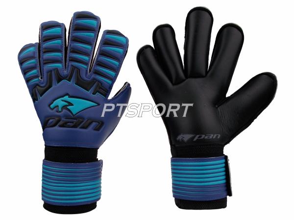 ถุงมือผู้รักษาประตู ถุงมือโกลว์ PAN PV-1543 นิ้วกลม ไม่มี FINGER SAVE สีน้ำเงินฟ้า