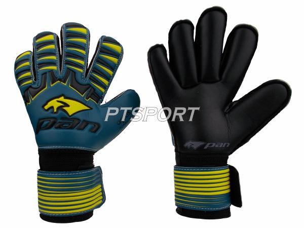 ถุงมือผู้รักษาประตู ถุงมือโกลว์ PAN PV-1543 นิ้วกลม ไม่มี FINGER SAVE สีเขียวเหลือง