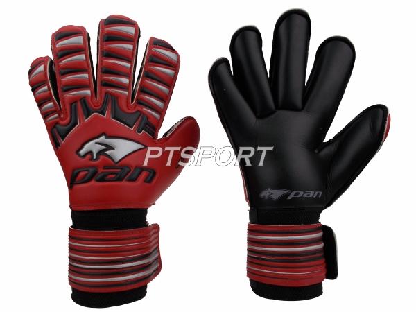 ถุงมือผู้รักษาประตู ถุงมือโกลว์ PAN PV-1543 นิ้วกลม ไม่มี FINGER SAVE สีแดงดำ