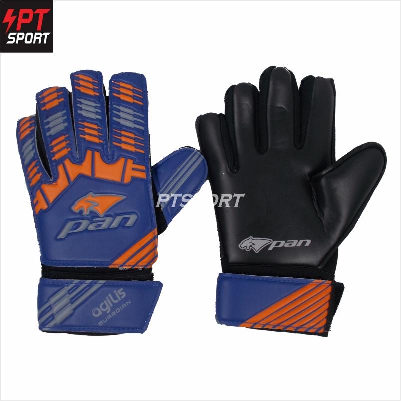 ถุงมือผู้รักษาประตู ถุงมือโกล์ว PAN PV-1544 ไม่มี Finger Save สีน้ำเงินส้ม