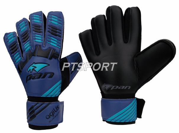 ถุงมือผู้รักษาประตู ถุงมือโกล์ว PAN PV-1544 ไม่มี Finger Save สีน้ำเงินฟ้า