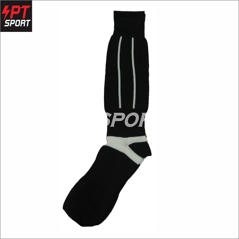 ถุงเท้าฟุตบอลเด็ก ถุงเท้ากีฬา STANDARD H3 SPORT สีดำ