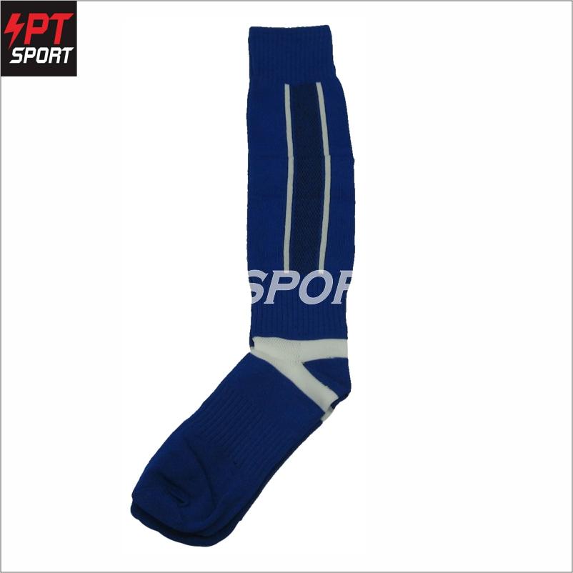 ถุงเท้าฟุตบอลเด็ก ถุงเท้ากีฬา STANDARD H3 SPORT สีน้ำเงิน
