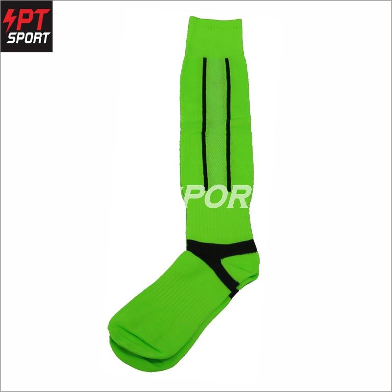 ถุงเท้าฟุตบอลเด็ก ถุงเท้ากีฬา STANDARD H3 SPORT สีเขียวสะท้อนแสง