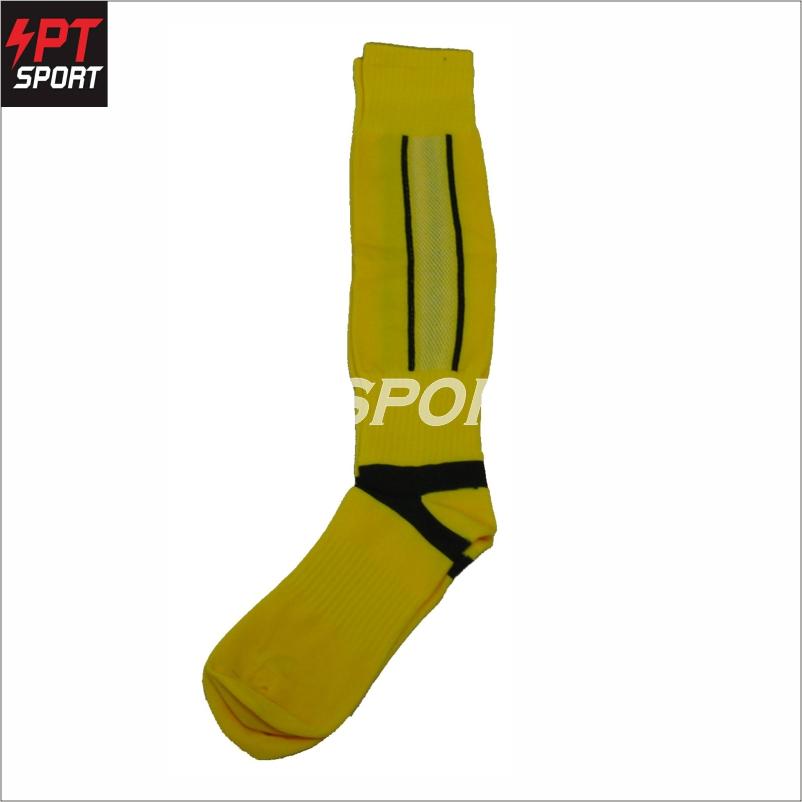 ถุงเท้าฟุตบอลเด็ก ถุงเท้ากีฬา STANDARD H3 SPORT สีเหลือง