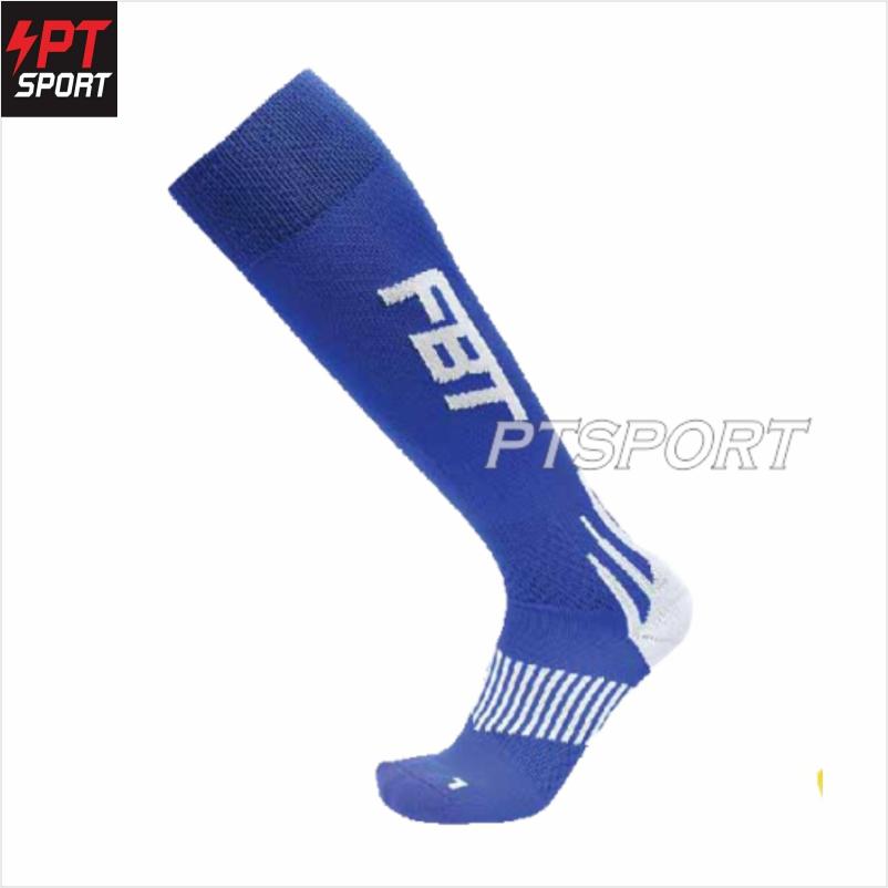 ถุงเท้ากีฬา ถุงเท้าฟุตบอล FBT NO.17-01 น้ำเงิน