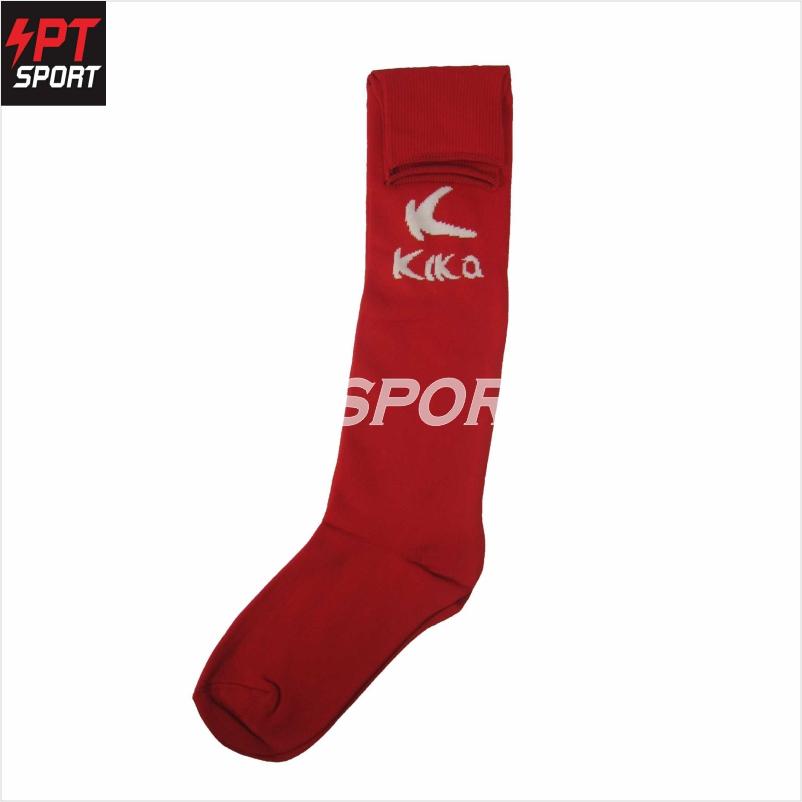 ถุงเท้ากีฬา ถุงเท้าฟุตบอล KIKA KS-005 FREE SIZE แดงขาว