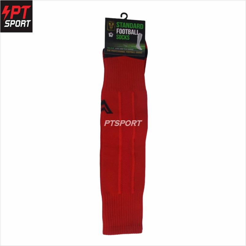 ถุงเท้ากีฬา ถุงเท้าฟุตบอลยาว VICTORY Standard  Free Size แดง