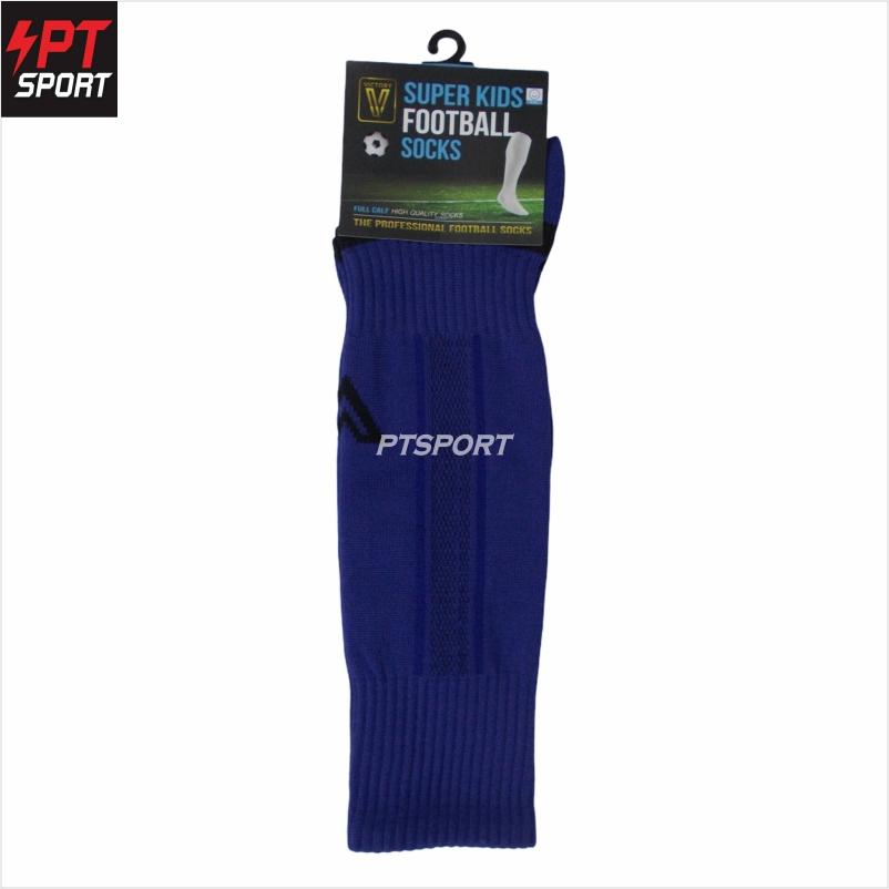 ถุงเท้ากีฬา ถุงเท้าฟุตบอลเด็ก VICTORY SUPERKIDS SIZE 6-12 ปี น้ำเงิน