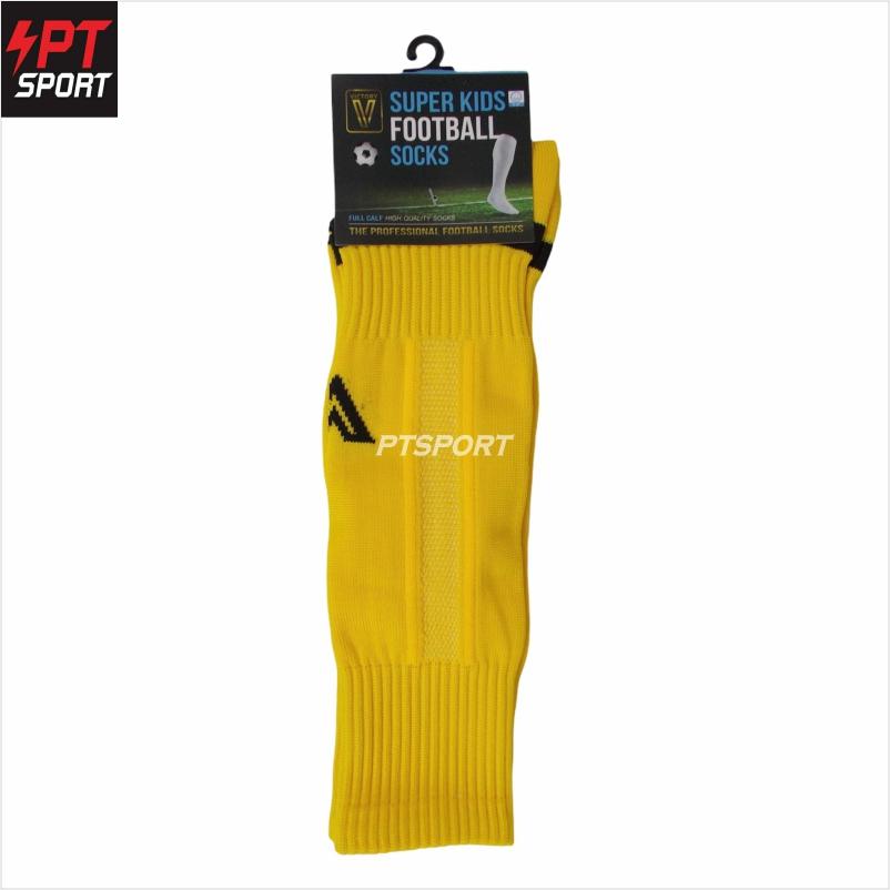 ถุงเท้ากีฬา ถุงเท้าฟุตบอลเด็ก VICTORY SUPERKIDS SIZE 6-12 ปี เหลือง