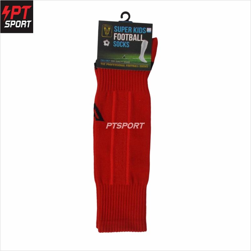ถุงเท้ากีฬา ถุงเท้าฟุตบอลเด็ก VICTORY SUPERKIDS SIZE 6-12 ปี  แดง