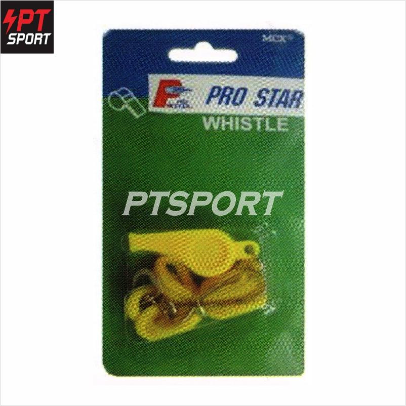 PRO STAR นกหวีด พลาสติกพร้อมสาย รุ่น WS-011