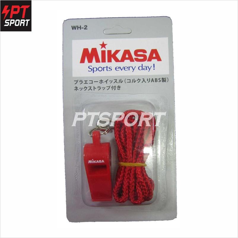 MIKASA WH-2 นกหวีด ผู้ตัดสิน สีแดง
