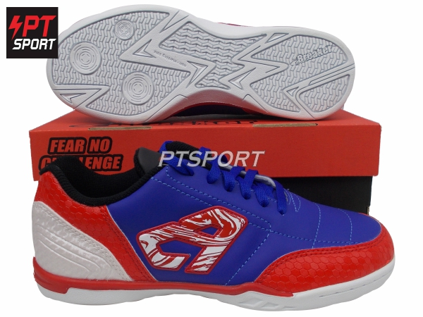 รองเท้ากีฬา รองเท้าฟุตซอล BREAKER BK1110 สีน้ำเงิน-ขาว