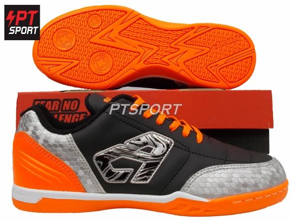 รองเท้ากีฬา รองเท้าฟุตซอล BREAKER BK1110 สีดำ-ส้ม