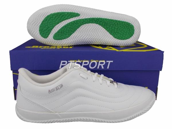 รองเท้ากีฬา รองเท้าฟุตซอล BREAKER BK-36 สีขาว