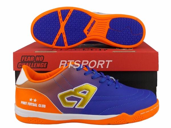 รองเท้ากีฬา รองเท้าฟุตซอล BREAKER BK1216 สีน้ำเงิน