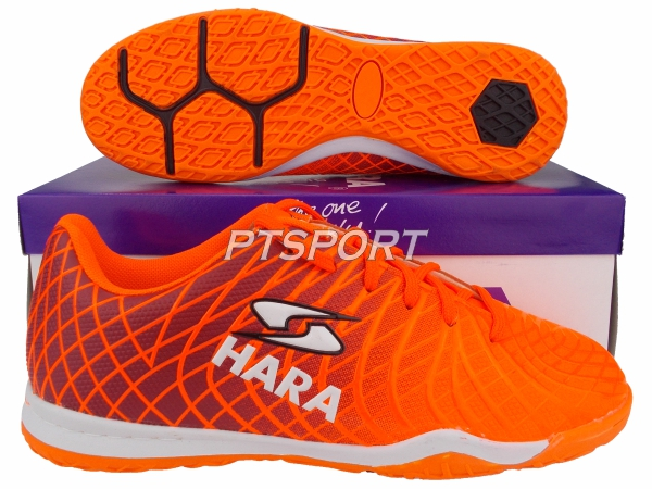 รองเท้ากีฬา รองเท้าฟุตซอล HARA FS25 ส้ม