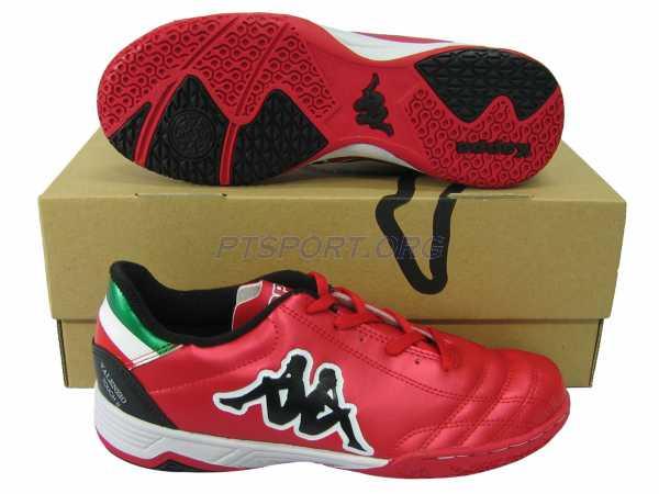 รองเท้ากีฬา รองเท้าฟุตซอล KAPPA GF-14F6 VALENZIO TOUCH II ID แดงดำ
