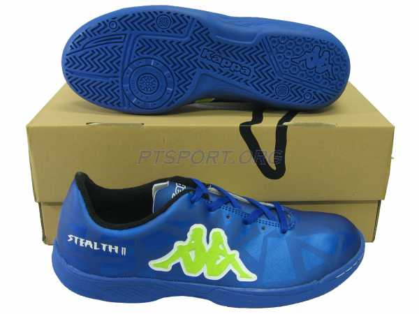 รองเท้ากีฬา รองเท้าฟุตซอล KAPPA GF-14G2 STEALTH II น้ำเงินเขียว