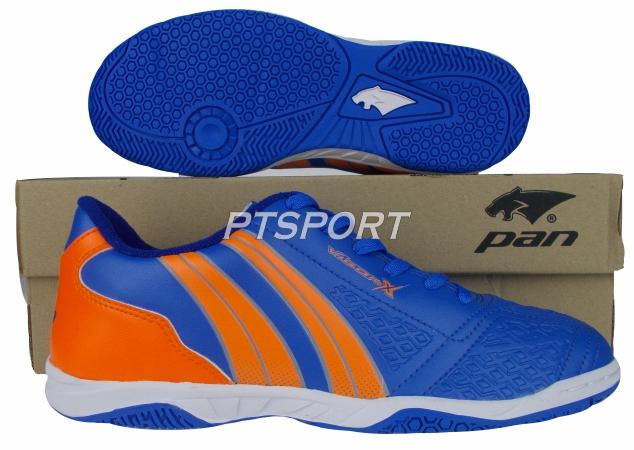 รองเท้ากีฬา รองเท้าฟุตซอล PAN PF-14AD น้ำเงินส้มBO