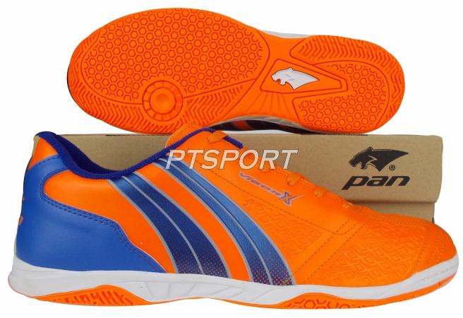 รองเท้ากีฬา รองเท้าฟุตซอล PAN PF-14AD ส้มน้ำเงินBO