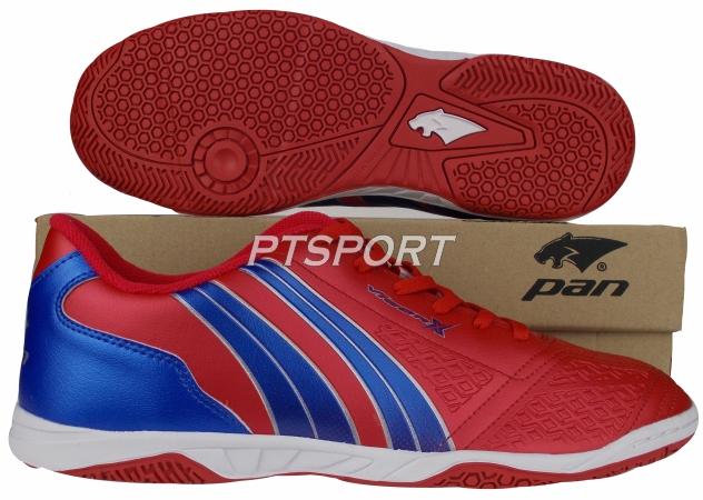 รองเท้ากีฬา รองเท้าฟุตซอล PAN PF-14AD แดงน้ำเงินRB