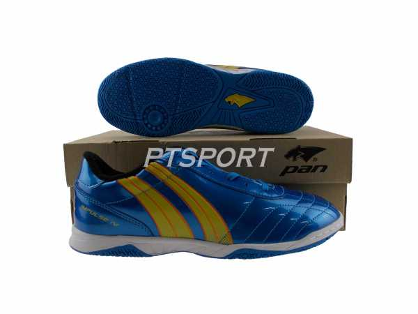 รองเท้ากีฬา รองเท้าฟุตซอลPAN PF-14P2 IMPULSE IV ELVALOY น้ำเงิน-ส้ม
