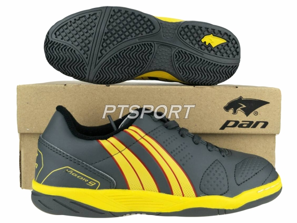 รองเท้ากีฬา รองเท้าฟุตซอลเด็ก PAN PF-14S5 เทาเหลืองEY